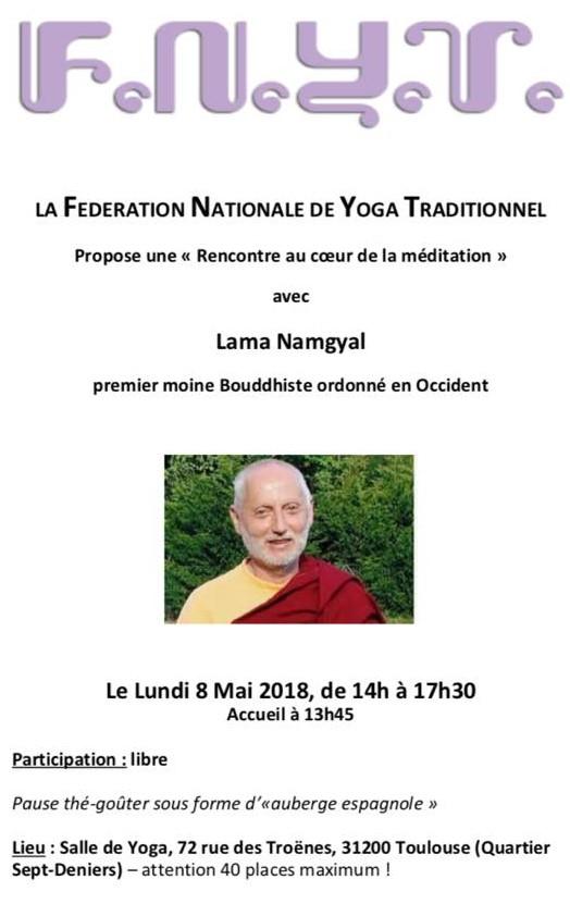 Rencontre au coeur de la méditation le 8 mai 2018